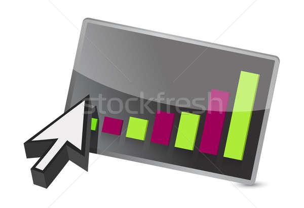 カラフル ビジネスグラフ カーソル 実例 世界 将来 ストックフォト © alexmillos