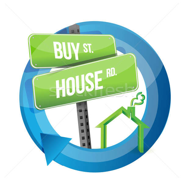 купить дома недвижимости дороги символ дизайна Сток-фото © alexmillos