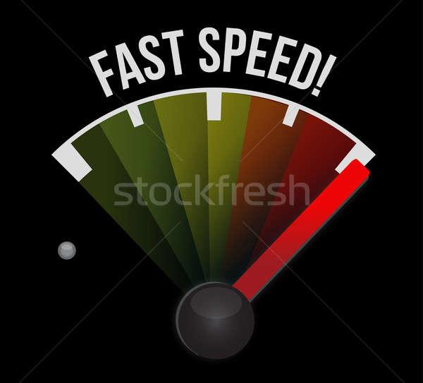 Photo stock: Rapide · vitesse · indicateur · de · vitesse · voiture · signe · noir