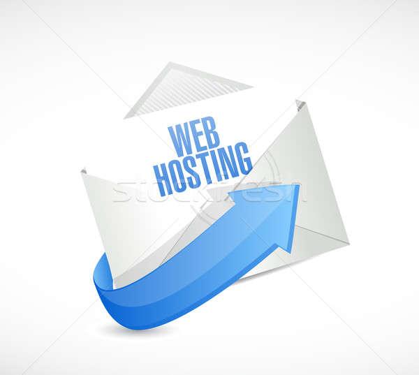 Web hosting posta imzalamak örnek grafik tasarım Stok fotoğraf © alexmillos