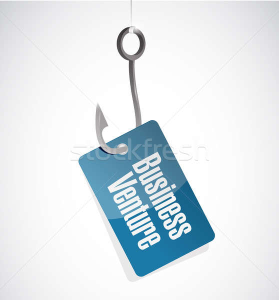 business venture hook sign concept Stock photo © alexmillos
