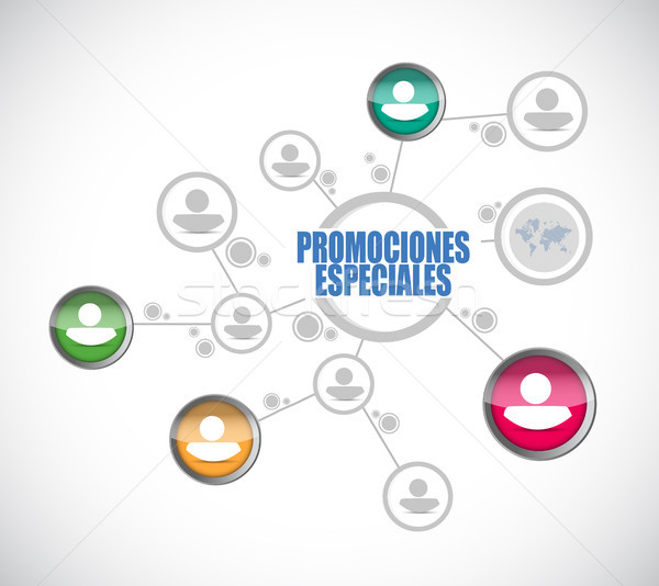 special promotions in Spanish people diagram Stock photo © alexmillos