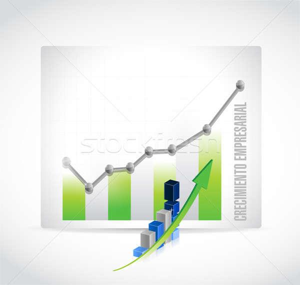 Negócio crescimento gráfico assinar espanhol ilustração Foto stock © alexmillos