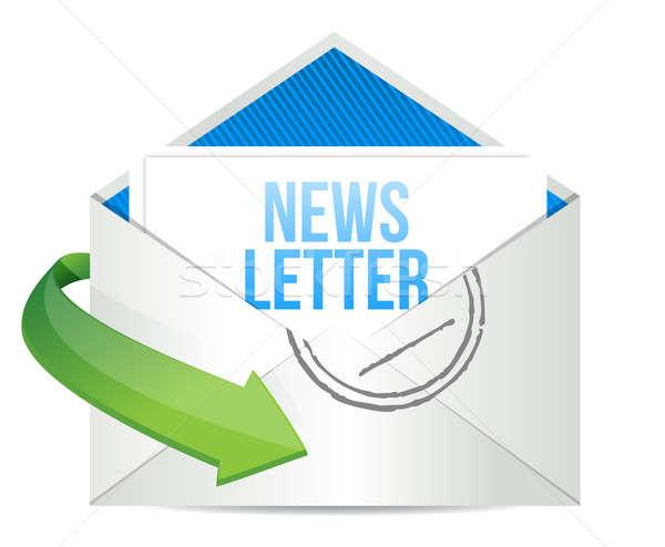 информационный бюллетень конверт иллюстрация дизайна белый интернет Сток-фото © alexmillos