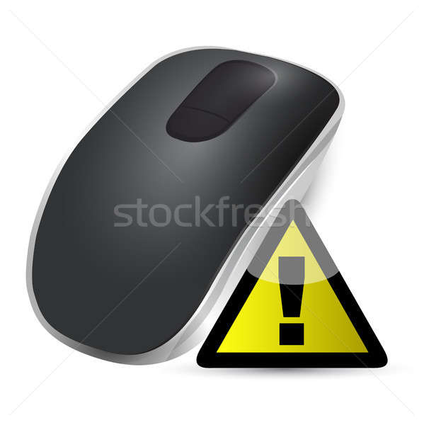 warning sign Wireless computer mouse Stock photo © alexmillos
