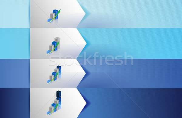 business graphs customizable blue texture Banners Stock photo © alexmillos