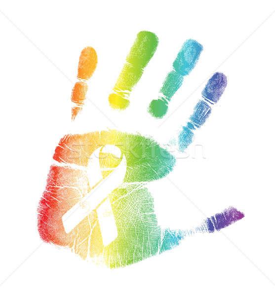 Homo trots lint illustratie ontwerp witte Stockfoto © alexmillos