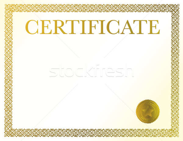 A blank certificate. Ready to be filled with your individual tex Stock photo © alexmillos