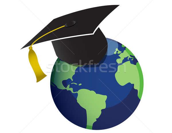 Educação escolas estudante lápis graduação faculdade Foto stock © alexmillos