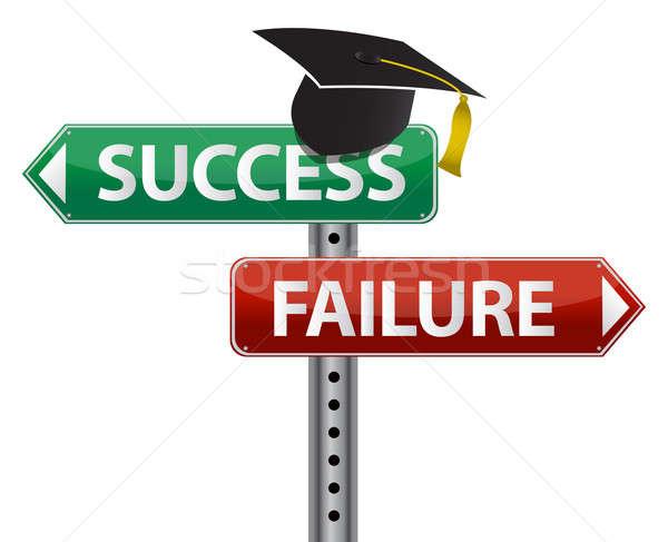 Graduation hat decision making concept Stock photo © alexmillos