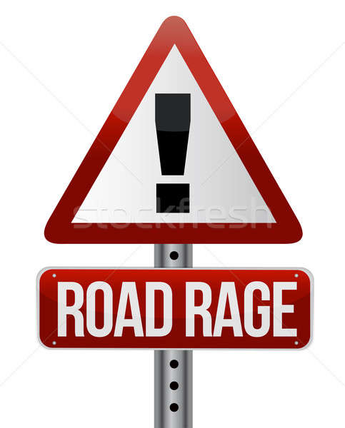 road traffic sign with a road rage concept Stock photo © alexmillos
