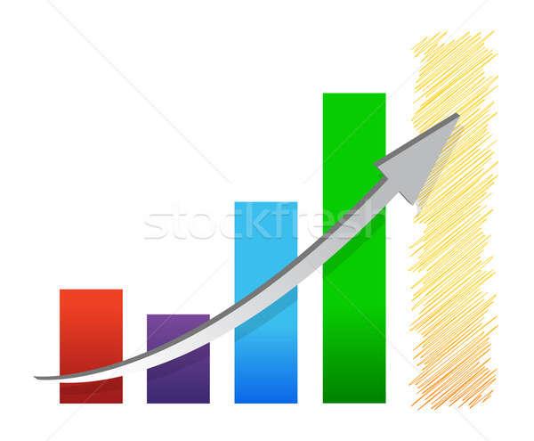 Kolorowy ekonomiczny wykres ilustracja projektu Zdjęcia stock © alexmillos