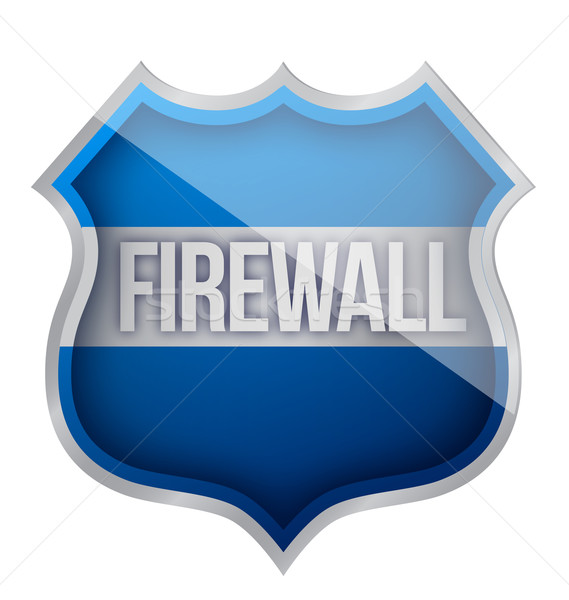 Firewall Schirm Illustration Design weiß Business Stock foto © alexmillos