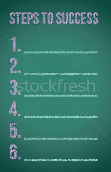 Stock fotó: Lépcső · siker · illusztráció · terv · iskolatábla · üzlet