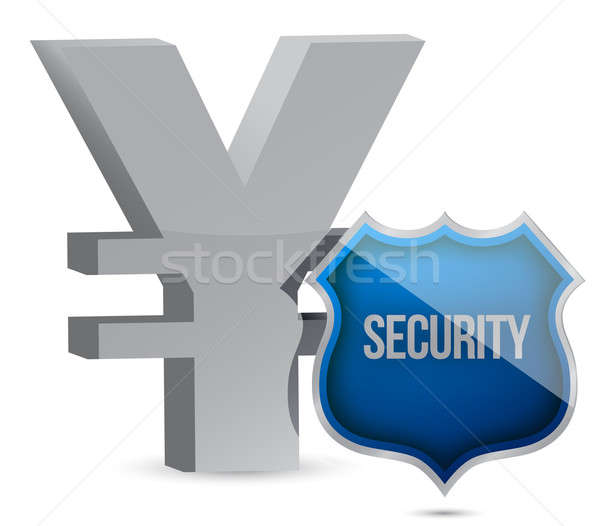 yen protected concept illustration design over white Stock photo © alexmillos