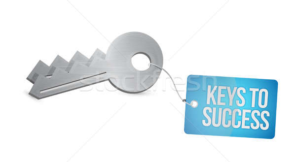 keys to success illustration design over a white background Stock photo © alexmillos