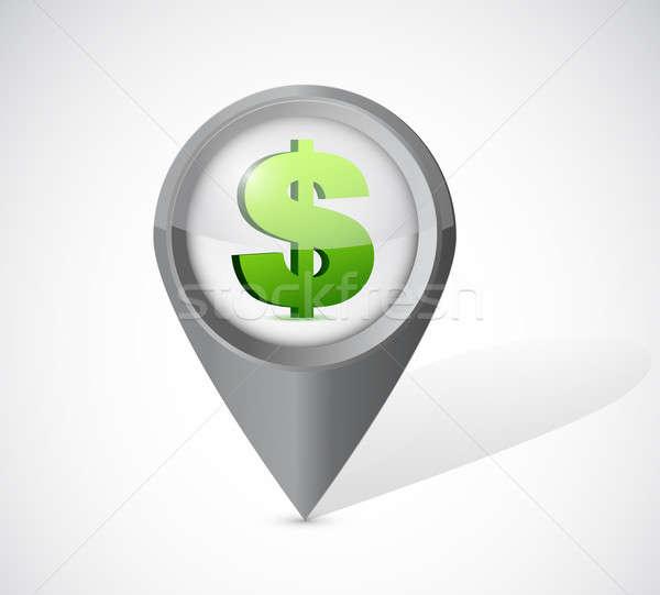 Dollaro valuta illustrazione design bianco telefono Foto d'archivio © alexmillos
