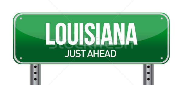 Green Louisiana, USA street sign  Stock photo © alexmillos