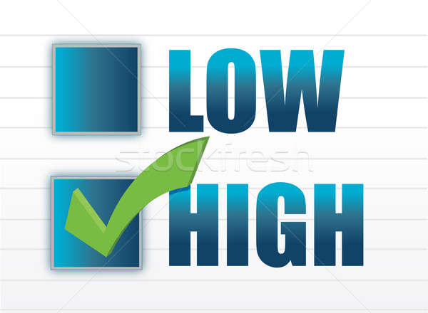 chose between low and high illustration design Stock photo © alexmillos