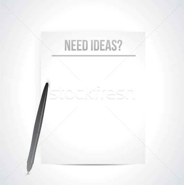 Gerek fikirler yazılı beyaz kâğıt örnek Stok fotoğraf © alexmillos