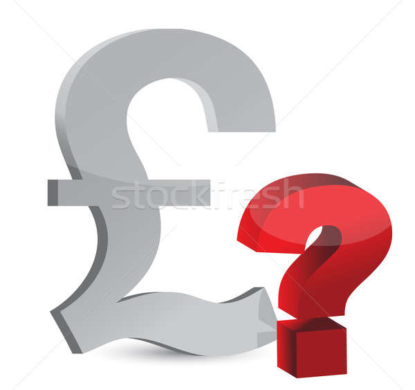Currency question mark illustration design over white Stock photo © alexmillos