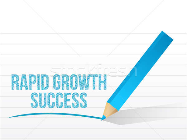 Stock photo: rapid growth success message illustration design over white