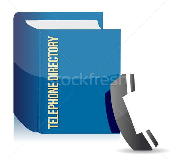 Blue telephone directory  Stock photo © alexmillos