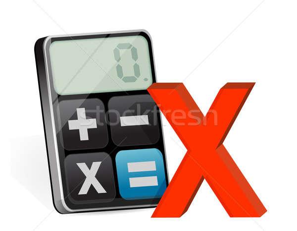 негативных современных калькулятор служба фон Сток-фото © alexmillos