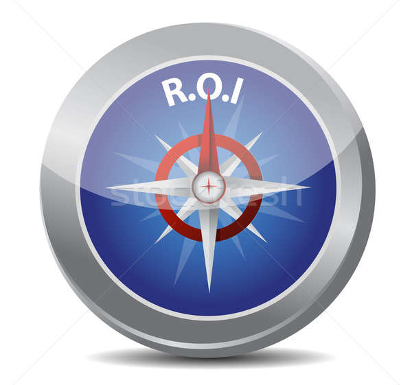 Compass symbol return on investment Stock photo © alexmillos