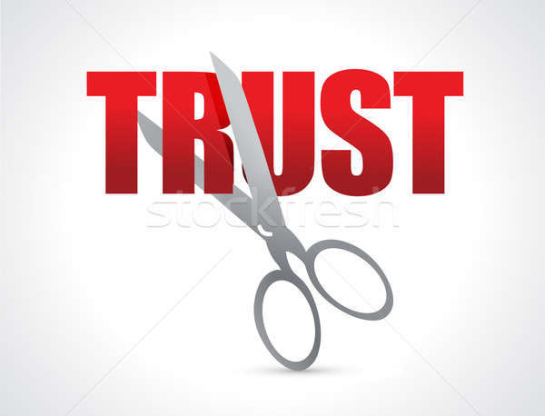 Cutting trust concept illustration  Stock photo © alexmillos