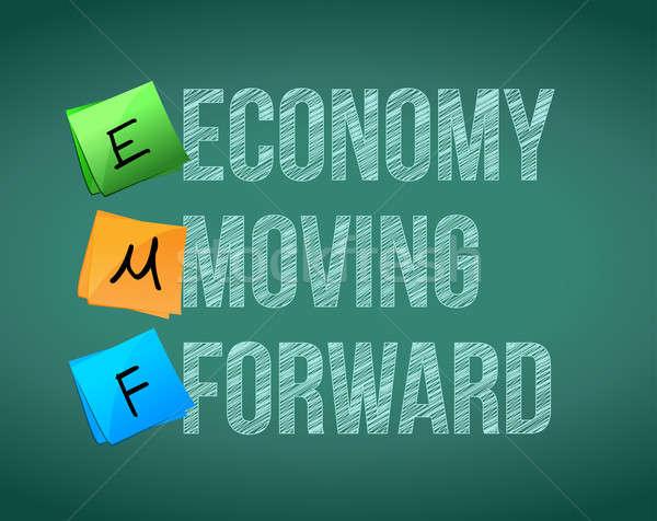 Economy moving forward  Stock photo © alexmillos