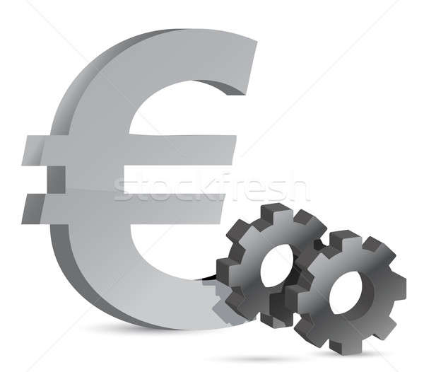 Euro gear  Stock photo © alexmillos