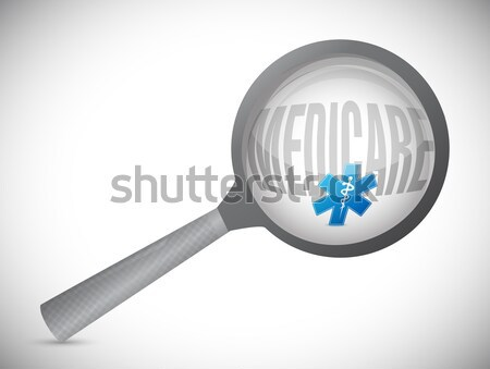 health plan under review concept illustration Stock photo © alexmillos