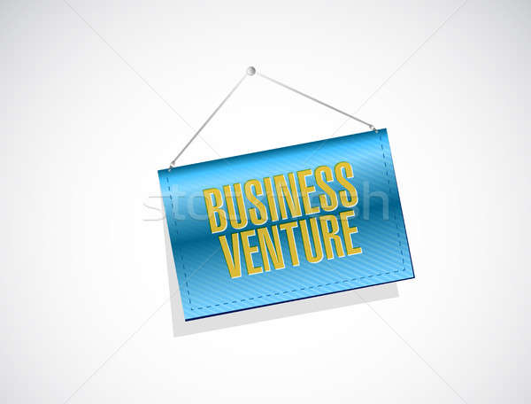 business venture banner sign concept Stock photo © alexmillos