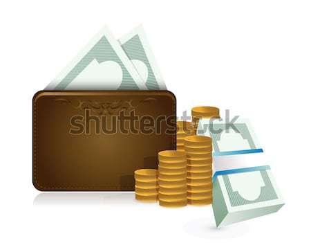 Fattura contanti soldi illustrazione design bianco Foto d'archivio © alexmillos