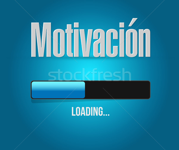 Motywacja bar podpisania hiszpanski ilustracja projektu Zdjęcia stock © alexmillos