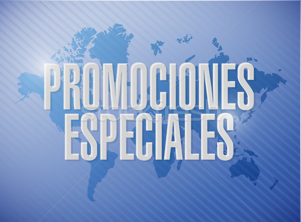 Stock photo: special promotions in Spanish world sign concept