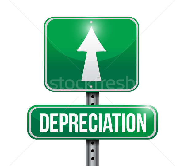 depreciation road sign illustration design Stock photo © alexmillos