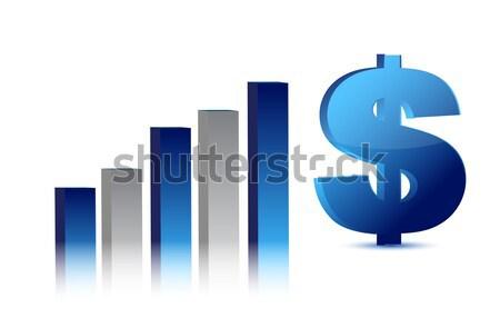 Queda dólar moeda gráfico de negócio ilustração grupo Foto stock © alexmillos