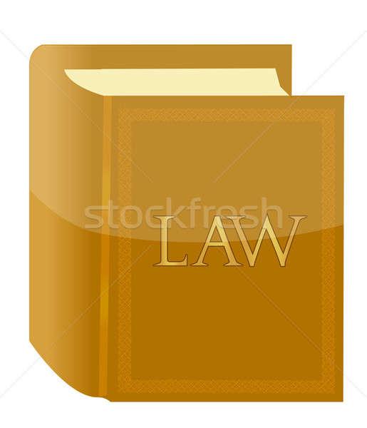 Könyv törvény illusztráció terv levél tanulás Stock fotó © alexmillos