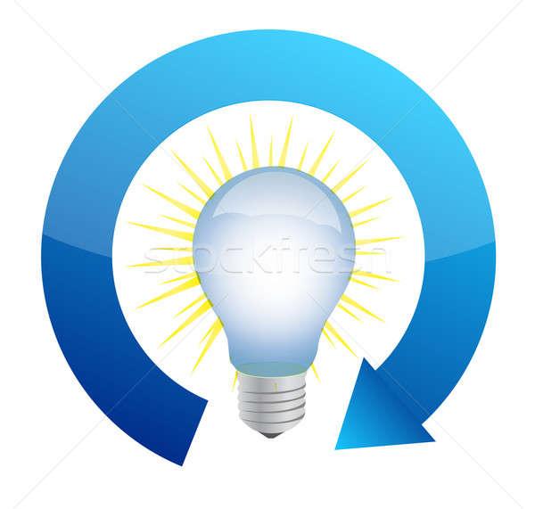 Megújuló energia villanykörte illusztráció terv technológia ipar Stock fotó © alexmillos
