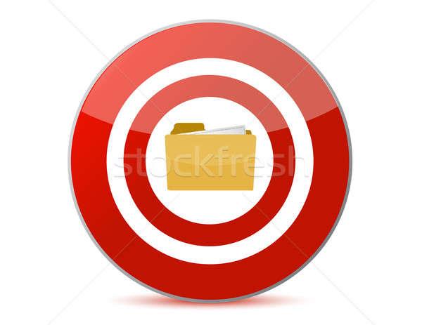 Map icon binnenkant target illustratie ontwerp Stockfoto © alexmillos