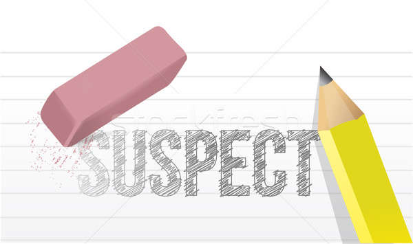 erasing suspect concept illustration design over a white backgro Stock photo © alexmillos