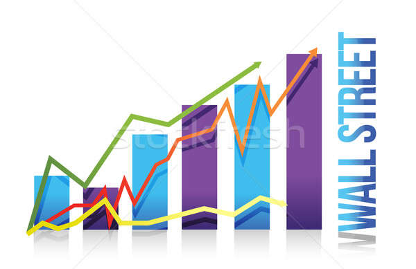 Wall Street graphe d'affaires illustration design blanche affaires Photo stock © alexmillos