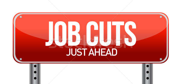 Job cuts illustration design over a white background Stock photo © alexmillos