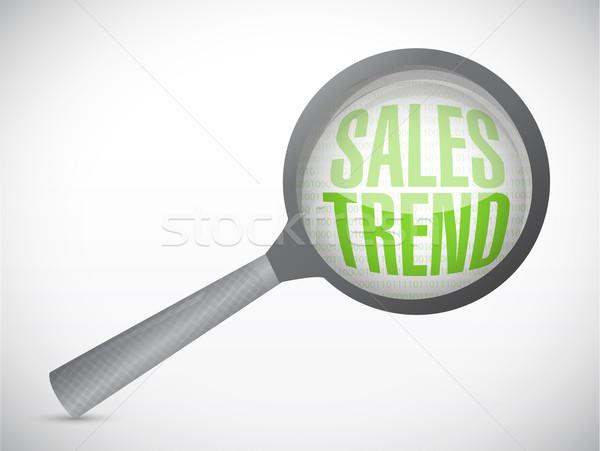 продажи Тенденции иллюстрация дизайна белый связи Сток-фото © alexmillos