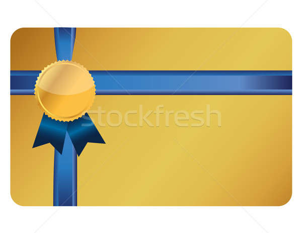 Carta regalo banner nastro business abstract design Foto d'archivio © alexmillos