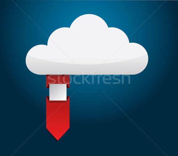 Cloud ribbon illustration  Stock photo © alexmillos