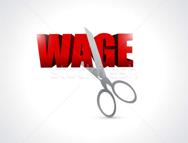 Cutting wage. illustration design  Stock photo © alexmillos