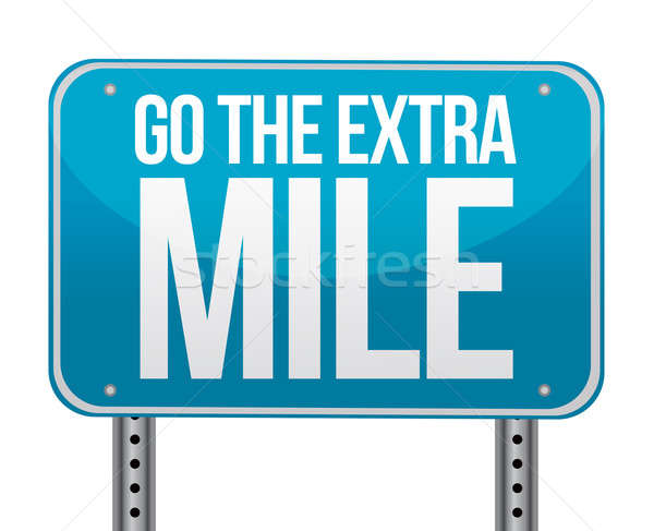 Go the extra mile illustration design  Stock photo © alexmillos